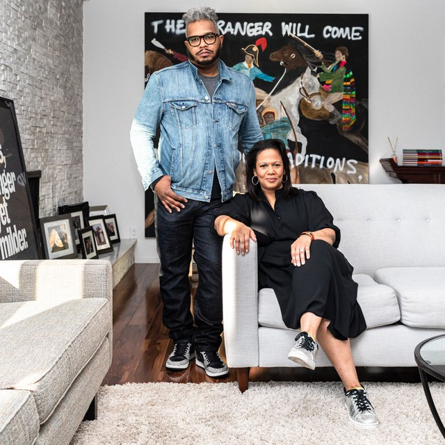 This LA Creative Couple Lives Surrounded by Contemporary Art | Hunker