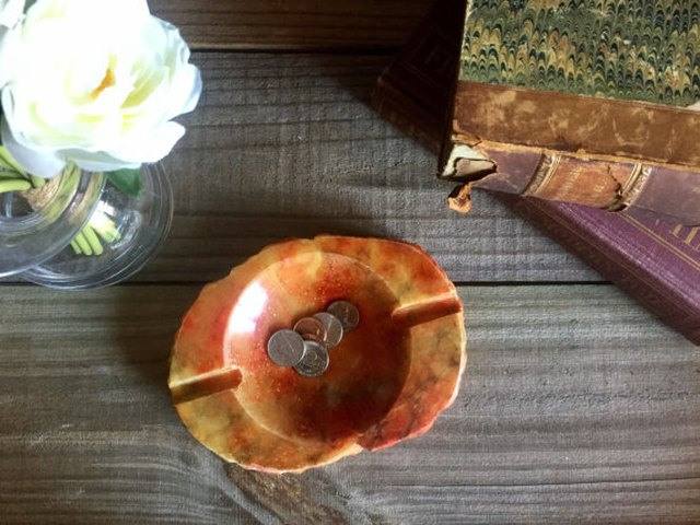 Red Marble Ashtray/Catchall