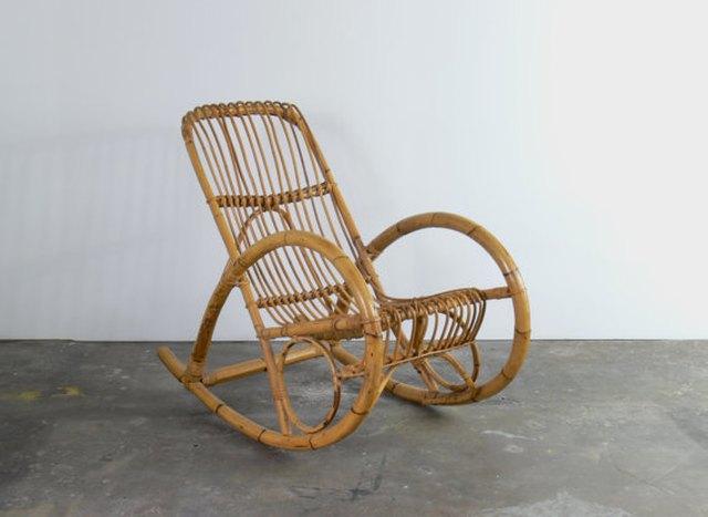 Mid-Century Franco Albini-Style Rocking Chair