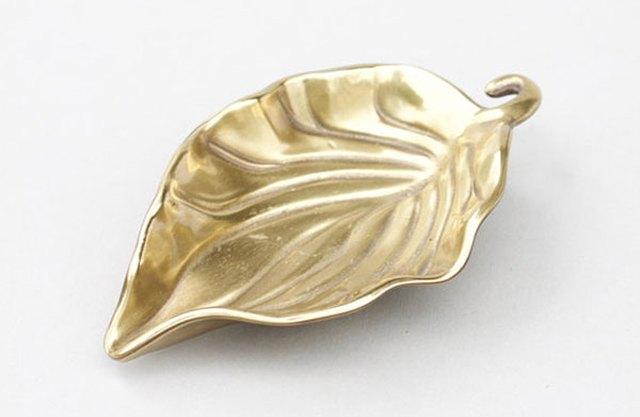 Brass Leaf Ring Dish