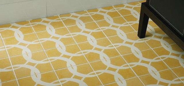 Paccha encaustic tile manufactured by Ann Sacks.