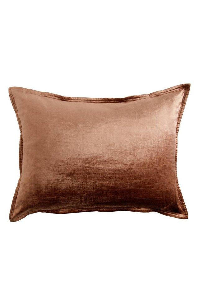 velvet pillow sham