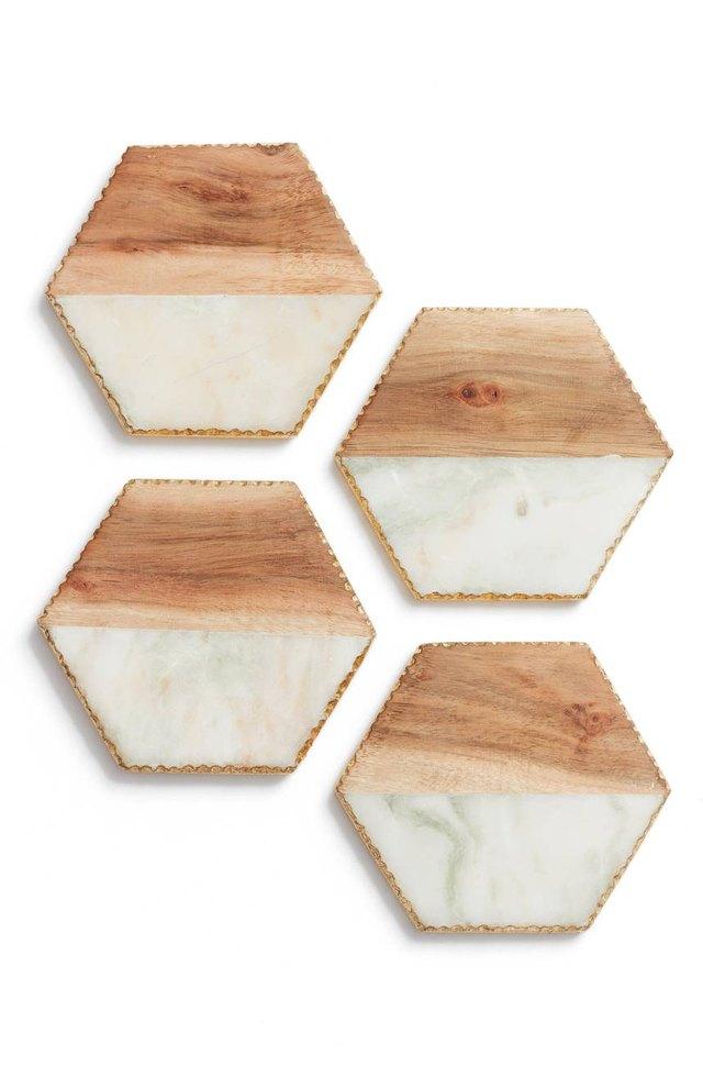 marble wood coasters