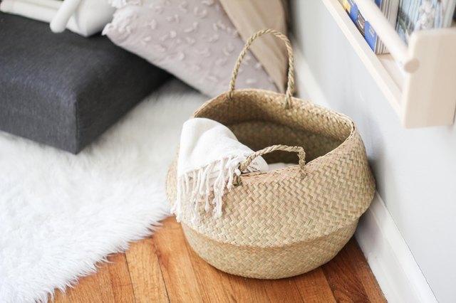 Basket with blanket