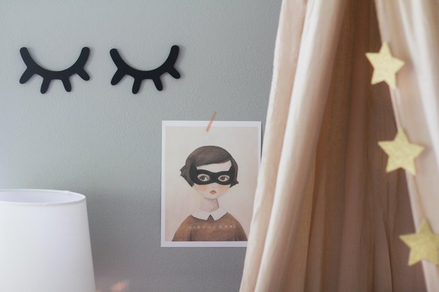 Wall decals and artwork on wall