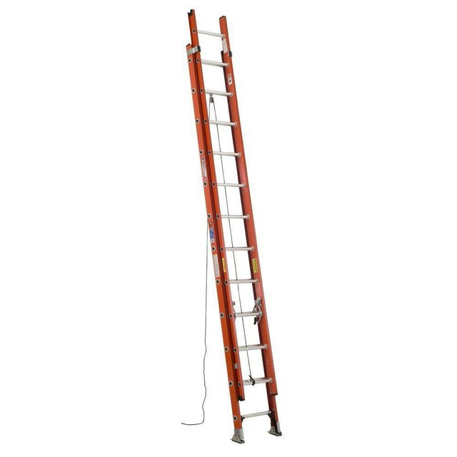 Extension ladder.