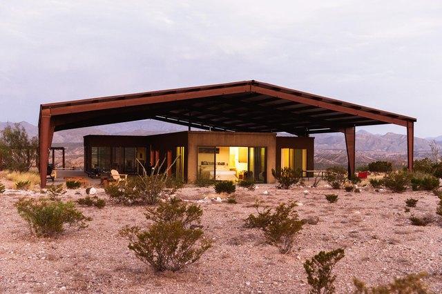 Modern home outside of Marfa