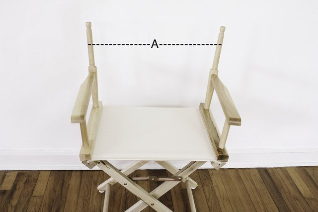 Measurement for chair back width