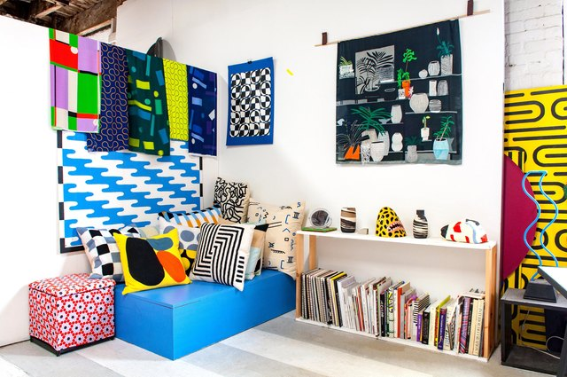 Not technically a home, but we're inspired by the bold colors of this studio