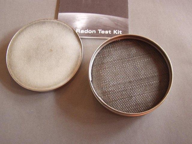 Short-term radon testing kit.
