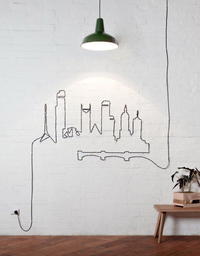cityscape wire art