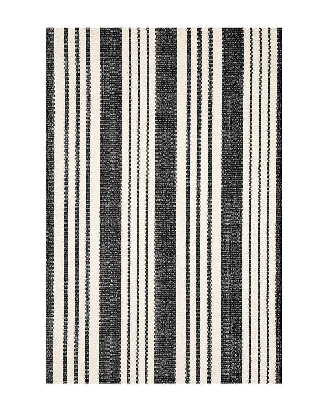striped woven outdoor rug