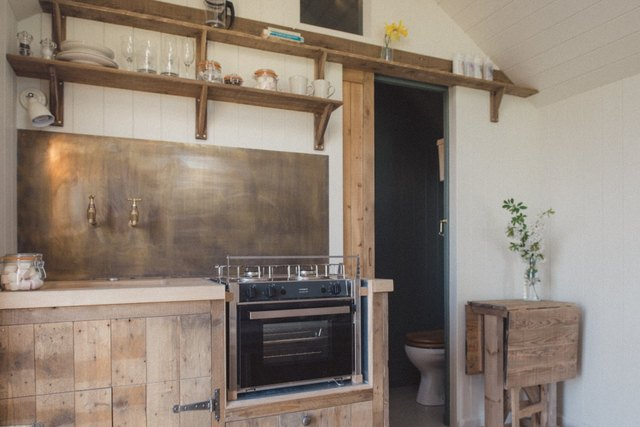 The huts are all designed and handcrafted by Dorset–based builders Plankbridge.
