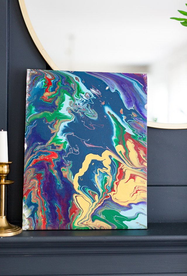 Every Piece of DIY Acrylic Pour Painting Art Is Completely ...