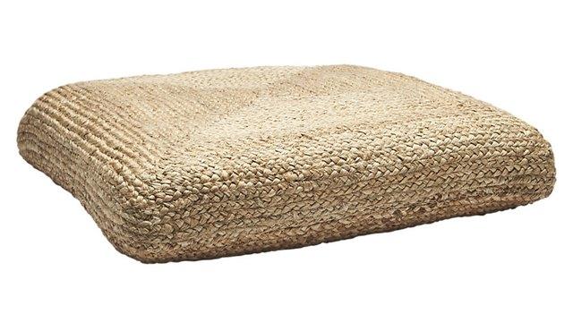 CB2 Braided Jute Floor Cushion, $79.95
