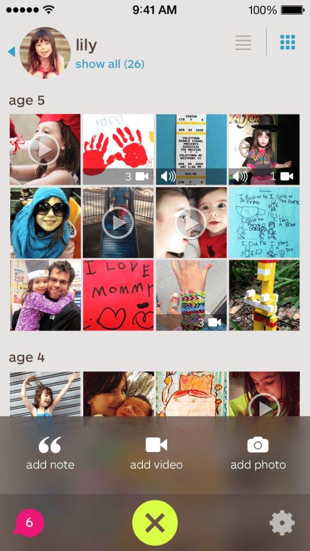 Screenshot of Keepy app