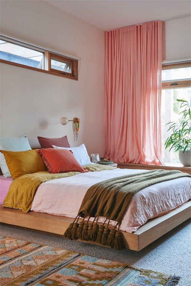 layered bedroom