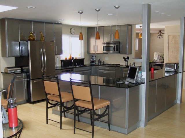 Stainless Steel Kitchen.