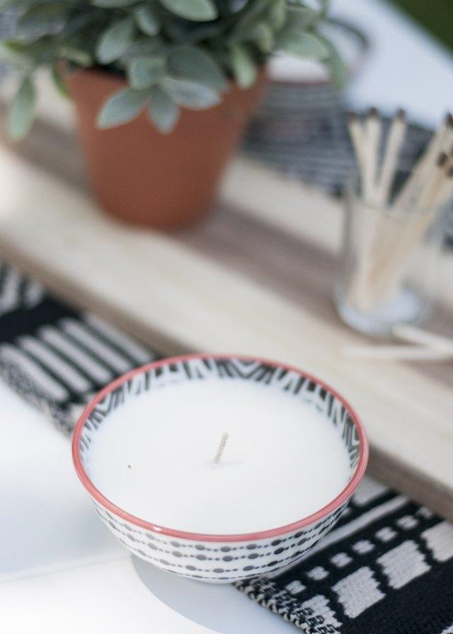 DIY citronella candle
