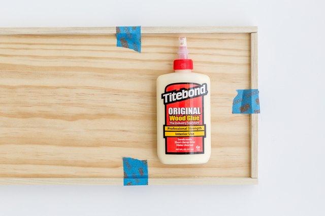 Glue down the trim pieces.