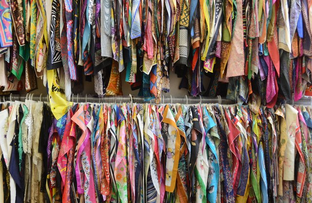 Williams' archive of 25,000 unique vintage textiles is a trove of inspiration.