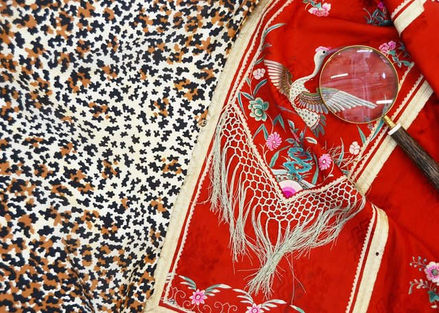 An expert in global fabrics, Williams collects embroidery and patterns from all over Asia, South America and Europe.