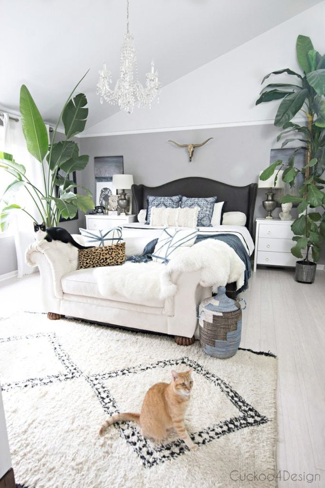 mix and match decor influences in boho style
