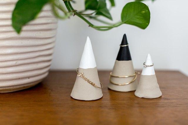 DIY Faux Concrete Jewelry Cones | Hunker