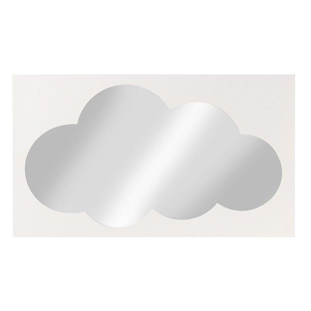 Borderless cloud-shaped mirror