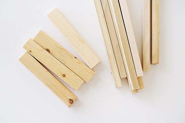 Wood cut to length.