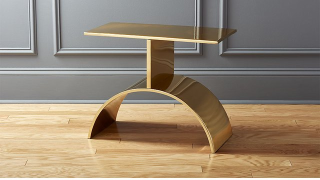 gold side table art deco style