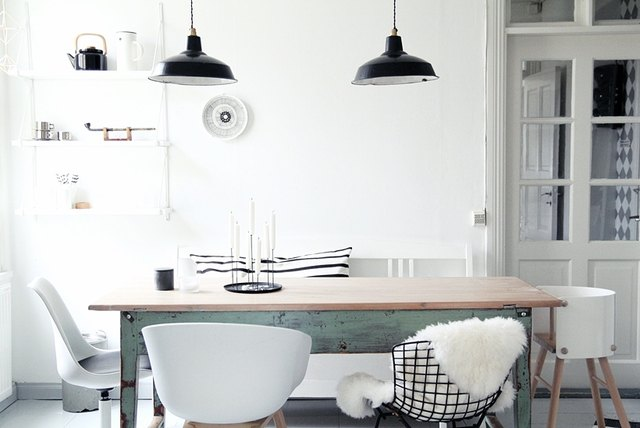 Scandinavian dining room industrial
