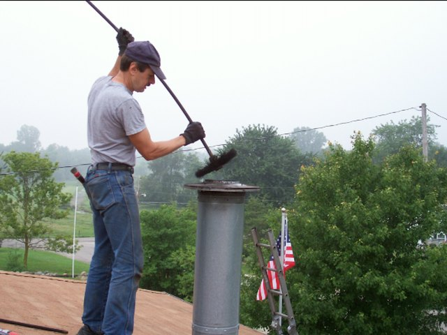 Cleaning a chimney