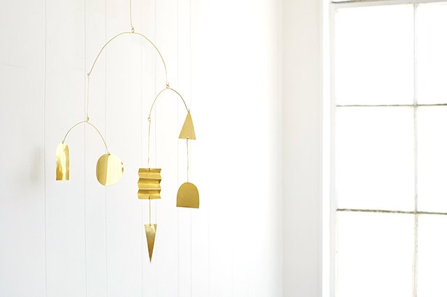 This Diy Modern Brass Mobile Works In Any Room Not Just
