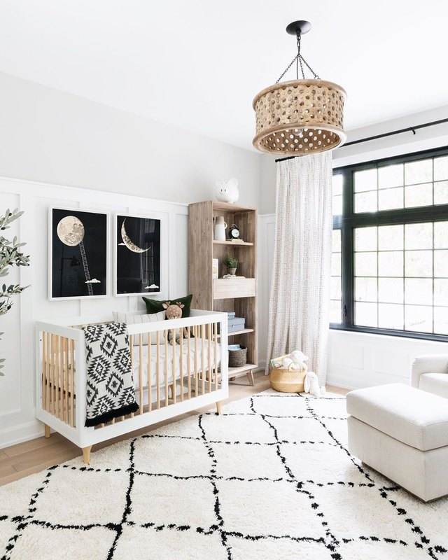 This Neutral Nursery Combines Sweet Celestial Vibes With Organic Materials | Hunker