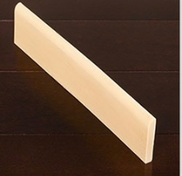 A short length of baseboard material.