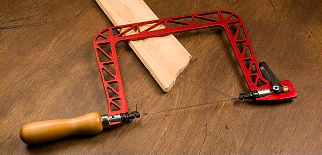 Coping saw and baseboard.