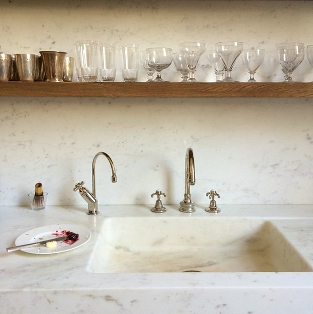 Marble integrated sink