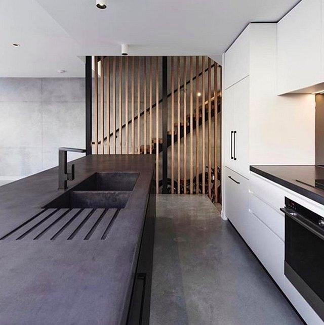 Concrete Integrated Kitchen Sink
