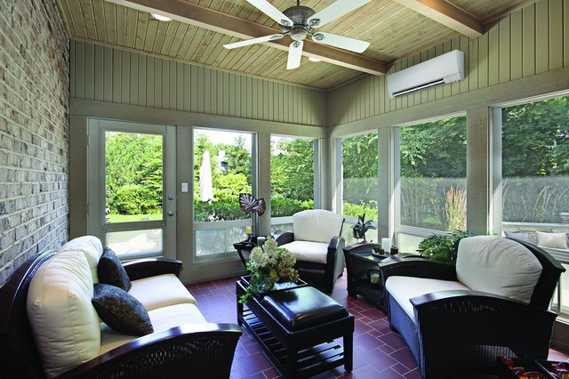 Ductless system in sun room.