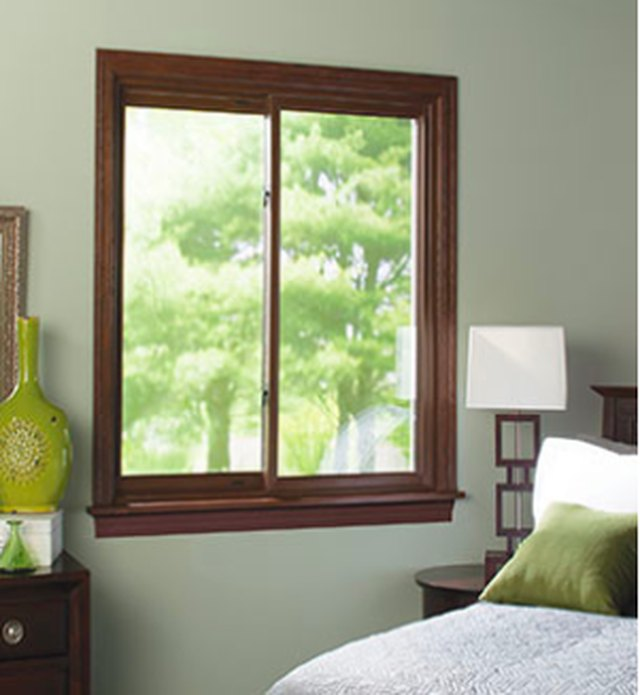 Sliding window in bedroom.