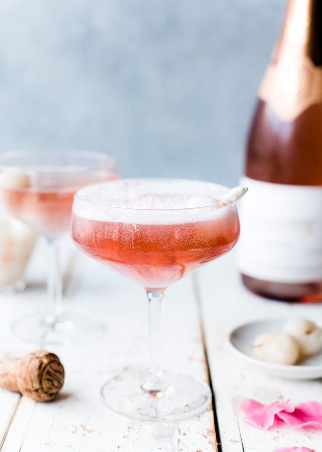 Lychee rosé mimosas