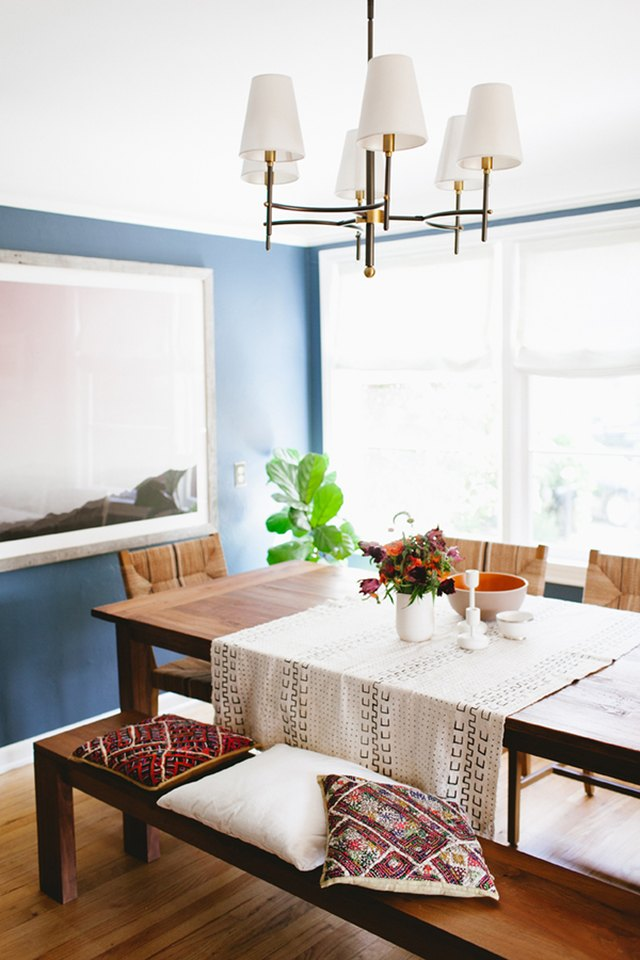 blue dining room one room makeover