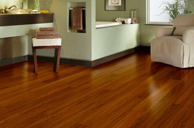Luxury vinyl flooring.