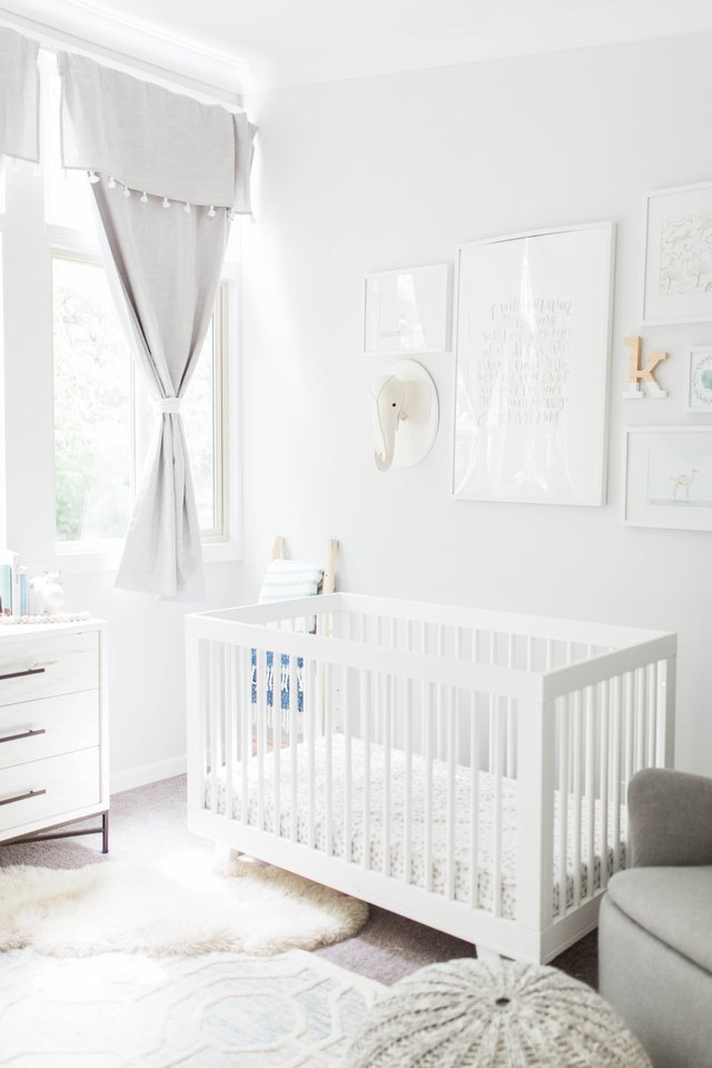 light gray nursery