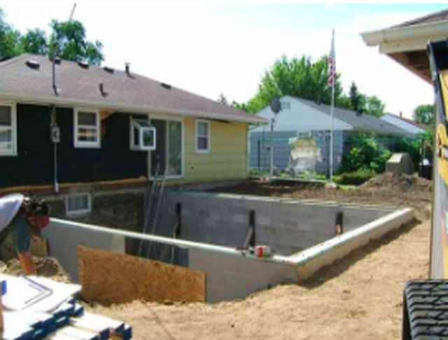 Basement under construction.
