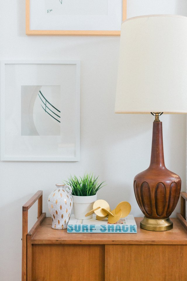 Allow to dry and place on a nightstand or coffee table.