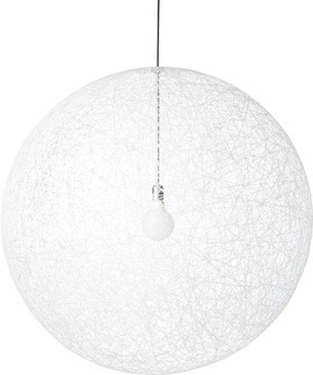 Large white globe pendant, semi-transparent
