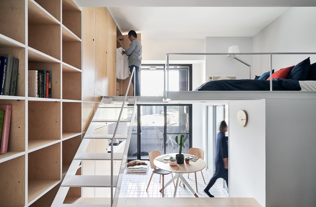small multilevel apartment