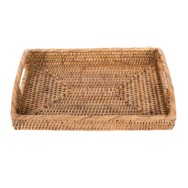 Artifacts Rattan Rectangular Tray